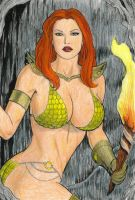 Red Sonja colored by rmartin2819