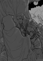 DA - Romance, Zevran side by aimo