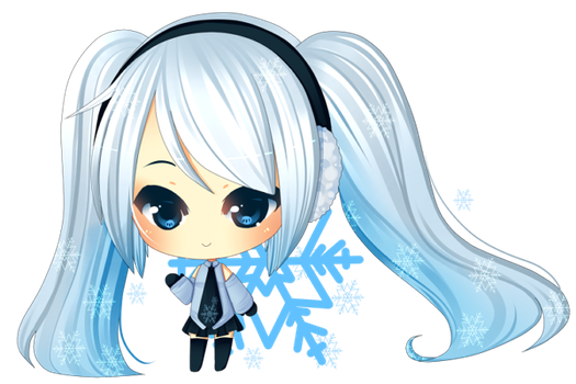 Miku: Snowflakes by Over16Bit