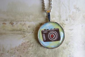 Camera Love Pendant by foowahu-etsy