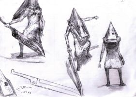 087 - Pyramid Head study 2 by Dalicris