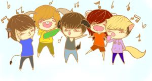 Singing with SHINee by kittykat91096
