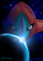 Deoxys in Space by CraigWM