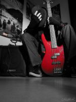 me, my bass guitar by Alcide-M