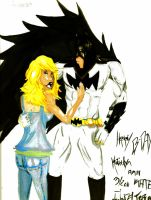 Batman and Kate by chaos34d