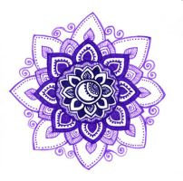 Purple mandala by yael360