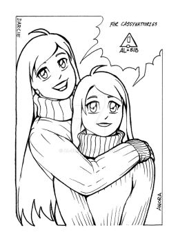 Anora and Darcie - BW by AL-818