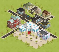 Isometric game city by TotasRa
