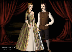 Will Turner and Elizabeth Swan by Kathofel