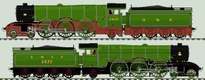LNER A1 liveries - 1470 'Great Northern' by 2509-Silverlink