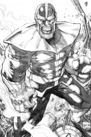 Thanos Pencils by hanzozuken