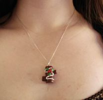 Christmas Log Cake Pendant by FatallyFeminine