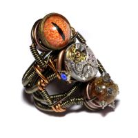 Steampunk prototype ring 2 by CatherinetteRings