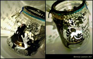 Alice In Wonderland Candle Holder by Bonniemarie