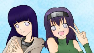 Hoshinana and Hinata by basabeo