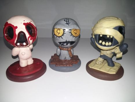 My Binding of Isaac Sculptures by Skafandra206
