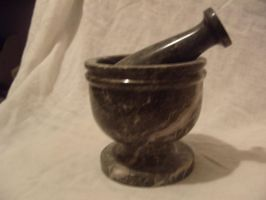 Pestle and mortor by tragedians-Stock