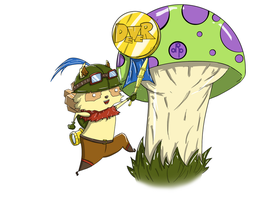 Month-Long Art Day 1: Teemo by dippydude