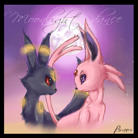 Espeon Umbreon moonlight dance by Psunna