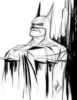 Batman sketch by HawkStudios