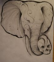 elephant drawing by johan887766