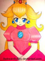Princess Peach by AwkwardlyShy
