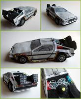 Plush time-traveling DeLorean by ldhenson