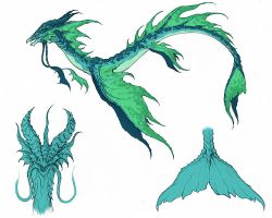 Sea Serpent Concept by YinDragon