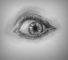 Realistic eye #1 by Kiara2909