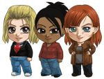 Doctor Who New Companions Set: Rose, Martha, Donna by cosplayscramble