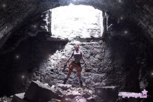 Tomb Raider Lara Croft discovering new world by Giorgiacosplay