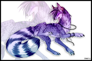 Violet wolf- adoptable [sold] by ZerkWolf