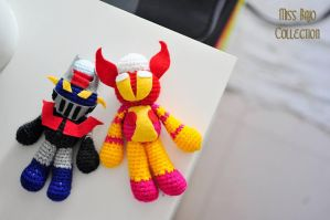 Mazinger X and Afrodita by MissBajoCollection