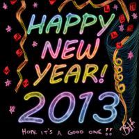 Happy New Year 2013 by Blood-Huntress