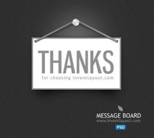 Thank you Message Board by atifarshad