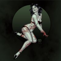 Pinupgirls Zombie by Revelationchapter9