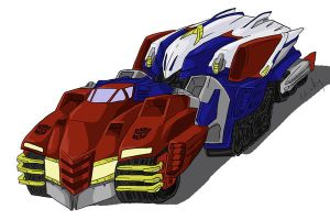 optimus prime redesign vehicle by micky86