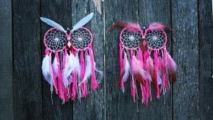 dream catcher Owl, twins by Vision4LifeCro