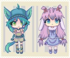 Lil kemonomimi adopts -CLOSED- by MichibanCupcakes