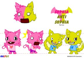Sophia and Anti Sophia Half DT by HTF-Characters