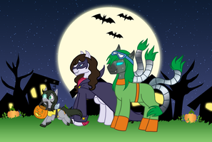 Commission: Lamprey's first Halloween by The-Clockwork-Crow