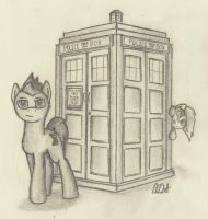 The Doctor and Derpy by ArtOfCanterlot