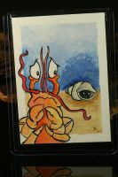 Nudist Hermit Crab ACEO by CatharsisJB