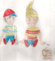 Ness and Lucas by kingofthedededes73