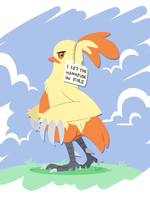 Poke-Shaming: Combusken by paulmccartneys