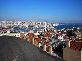Istanbul from roofs by H3ad0n
