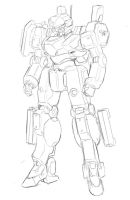 mecha sketch by EBR-KII