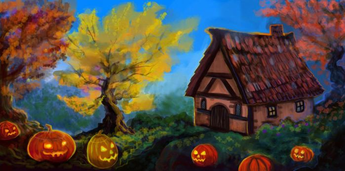 Magical Cottage by Cinder-Cat