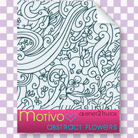 Abstract Flower Pattern Motivo by alenet21tutos