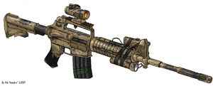 M4A2 Training Rifle by Masque-De-Mort